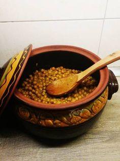 Ρεβίθια στο φούρνο με κάρυ
