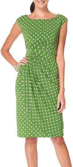 Amazon.com: Connected Apparel Petite Polka Dot Faux Wrap Dress: Clothing