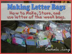 A grab bag is a bag that's full of objects that start withone particular letter.I use these when teaching preschool to go with my letter of the week format in Catholic ABC's. I used t…