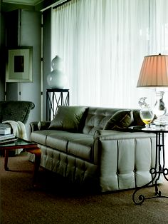 Syrie Maugham Sofa, Venice Side Table, Guilded Lily Coffee Table and Boudoir Chair by Mariette Himes Gomez for Hickory Chair