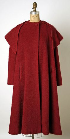 Coat  Valentina  (American, born Russia, 1899–1989)  Date: ca. 1951 Culture: American Medium: wool, silk