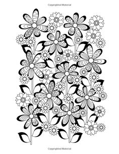 Flower Designs Coloring Book An Adult For Stress Relief Relaxation