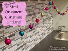 Affordable Mini Ornament Christmas Garland #christmascraft #diygarland #christmasidea