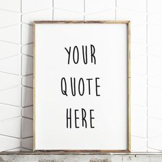 custom listing personalised quote custom quote by LittleBoomPrints