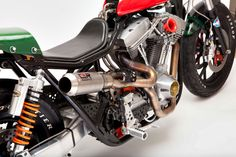 Detail from Harley-Davidson FXR, by Jeff Wright of Church Of Choppers