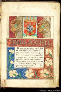 Carta de floral, MS M.1022 fol. 1r - Images from Medieval and Renaissance Manuscripts - The Morgan Library & Museum