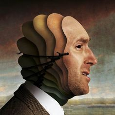 Illustration using portrait by Igor Morski, via Behance