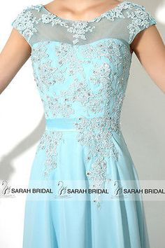 2015 Scoop Sheer Neck Chiffon Lace Long Prom Party Ball Gowns Bridesmaid Dresses