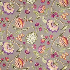 Warwick Fabrics : PILSBURY ASH - with a pop of Radiant Orchid