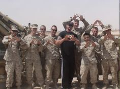Diamond Dallas Page. Wrestler, yoga guy & visitor to US troops.