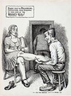 Original Robert Crumb Snatch Comics | 92418: Robert Crumb Projunior, Professional Shoe Salesm