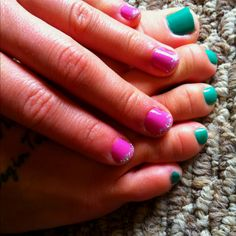 Spring colored nails