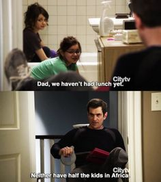 "possibly my favorite episode of modern family EVER. i laughed about this one for weeks afterwards.  ""but we're hungry!""  ""you won't be in a minute!"" hahaha"