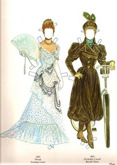 Great Fashion Designs of La Belle Époque  Paper Dolls by Tom Tierney - Dover…