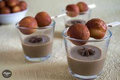 Mousse de Chocolate,Toffee, Café y Amaretto Chocolate Toffee, Dessert Recipes, Desserts, Panna Cotta, Pudding, Cookies, Ethnic Recipes, Kiwi, Food