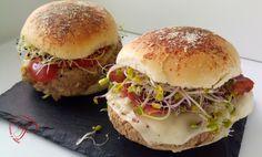 Cocina y más ...: Hamburguesa de alubias pintas con bollos de parmesano