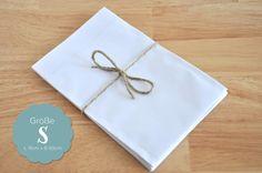 20 Papiertüten weiß ♥ S 9,5 x 15cm von dippeldi-und-scribble auf DaWanda.com