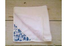 ALGAE & ORGANIC COTTON Magic Delft Baby blanket with smart pocket