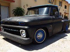 Black C-10 Chevrolet Vintage Truck
