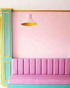 wes anderson color palette - Google Search Pastel Interior, Yellow Interior, Wes Anderson Color Palette, A Boutique, Decoration, House Colors, Color Inspiration, Interior Design, Google Search