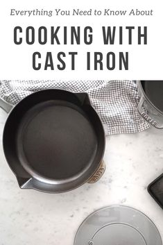 Everything You Need to Know to Properly Cook With a Cast Iron Skillet is part of Cast iron skillet recipes - Be not afraid! Carley Knobloch shares everything we need to know to properly cook with a cast iron skillet with The Inspired Home Cast Iron Skillet Cooking, Iron Skillet Recipes, Cast Iron Recipes, Skillet Meals, Cooking With Cast Iron, Cooking For A Group, Cooking Tips, Cooking Recipes, Pan Cooking