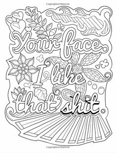 Coloring Books Adult Pages Colouring 2 Colours Awesome Sayings Mandala Art Words Relax Therapy Vintage Lyrics