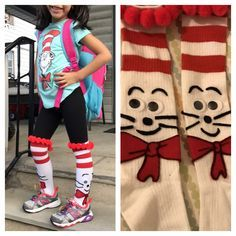 Seuss, The Cat in the Hat Crazy sock day, Dr. Seuss, The Cat in the Hat Dr Seuss Socks, Dr Seuss Hat, Dr Seuss Week, Dr. Seuss, Wacky Socks, Silly Socks, Crazy Socks, Crazy Hat Day, Dr Seuss Clothing