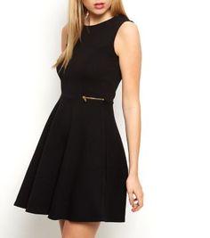 £19.99 Dress New Look Black Zip Side Skater Dress