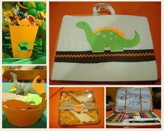 Lembrancinhas festa Dinossauros - Théo 5 anos