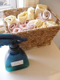 Cloth Baby Wipes and Homemade Wipe Solution