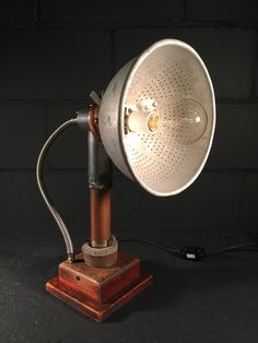 Colander Lamp by MenloParkLaboratory on Etsy