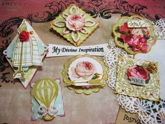 Vintage Rose Scrapbook Embellishments Paper by mydivineinspiration, $4.99