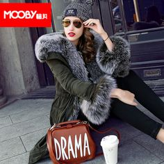 >> Click to Buy << 2015 new Hot winter Thicken Warm Woman Down jacket Coat Parkas Outerwear Hooded fox Fur collar Slim Luxury long plus size XXL #Affiliate
