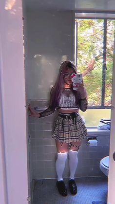 arlene lee(@chinkerbell) on TikTok: got d3leted .... (ur 2nd @ smells bad) Edgy Outfits, Grunge Outfits, Cool Outfits, Fashion Outfits, Aesthetic Grunge Outfit, Aesthetic Clothes, Chloe Fashion, Girl Fashion, Estilo Grunge