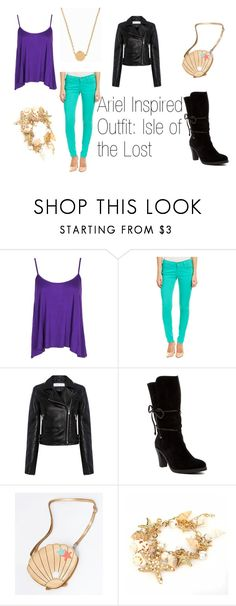 """""""Ariel Inspired Outfit: Isle of the Lost"""" by nicole-kieboom on Polyvore featuring Boohoo, James Jeans, IRO, Johnston & Murphy and Minnie Grace"""