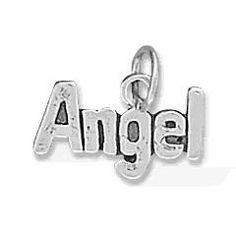 Sterling Silver Angel Word Charm by jewelrymandave on Etsy, $9.99