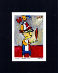Gainful Employment  funny quirky hot dog on a by MurphyAdamsStudio, $20.00