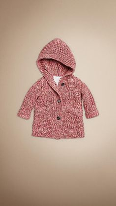 Burberry knitted cotton coat for baby girl