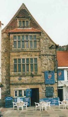 ~King Richard III House in Scarborough, England, is part of a 14th century house, where King Richard III is reputed to have stayed when visiting the town on naval business. A caged stone carving of a crowned devil once stood outside the house, which is located off Sandside overlooking the Old Harbour to the south of the headland~