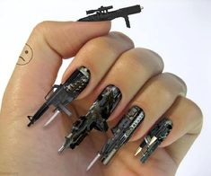 Machine Gun Manicure, for those days when I have nothing better to do then sit around looking like a bad ass.
