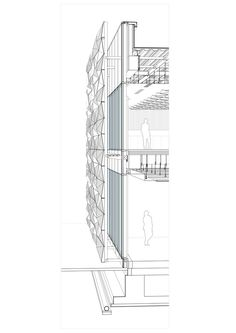 Galerie der & Konferenzsaal / BINAA – 42 – Gallery of the headquarters & conference hall / BINAA – 42 – architecture-desi … Detail Architecture, Architecture Drawings, Concept Architecture, Interior Architecture, Revit Architecture, Roman Architecture, Building Skin, Building Facade, Building Design