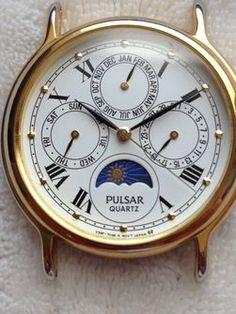 Pulsar Triple-Date Moon Phase Quartz Watch