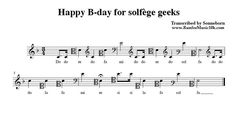 Happy B-Day for solfege geeks Music Pics, Music Photo, Music Stuff, Music Jokes, Music Humor, Geeks, Vader Star Wars, Music Education, Learning Music