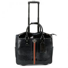 65c92588ab Croco With Tape Laptop Rollerbrief. Save 15% off all rolling laptop bags  until 12