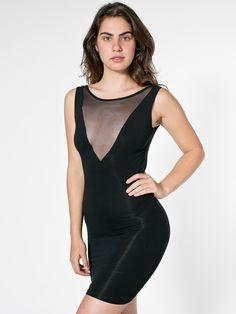 Cotton Spandex Sleeveless Gloria-V Dress