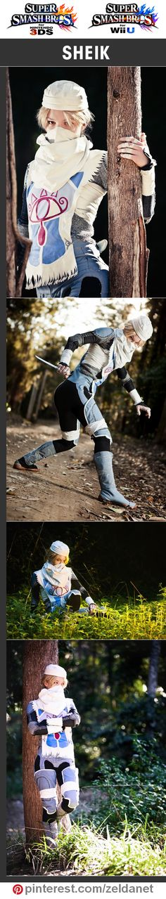 Sheik by mishellyart in Super Smash Bros cosplay series | @nintendo #3DS #WiiU Credits in original post at http://www.pinterest.com/zeldanet/super-smash-bros-cosplay-series/