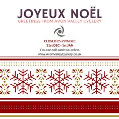 The Christmas/ New years days we're closed as a shop.