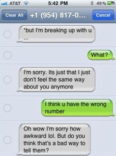 Can you break up over text