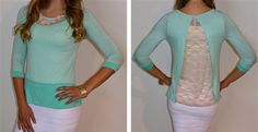 Lace At A Glance Top!