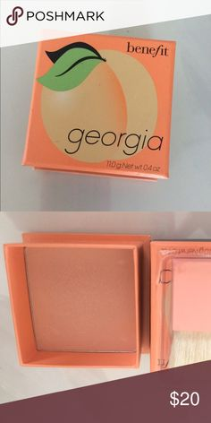 """Benefit Cosmetics """"Georgia Peach"""" Blush New never been used. Swatched Once. Sanitized Benefit Makeup Blush"""